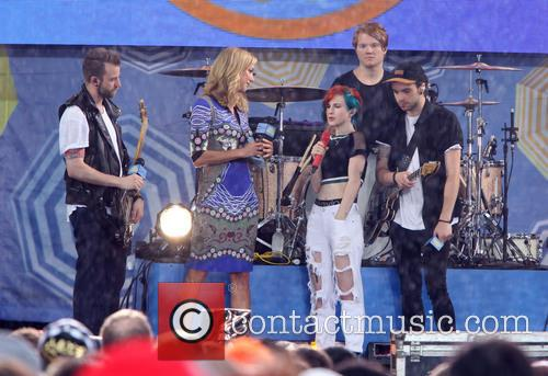 Paramore, Hayley Williams, Jeremy Davis, Taylor York and Lara Spencer 2