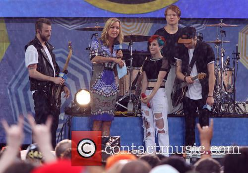 Paramore, Hayley Williams, Jeremy Davis, Taylor York and Lara Spencer 3