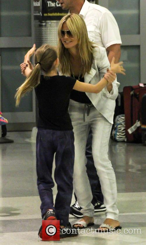 Heidi Klum spotted at John F. Kennedy International...