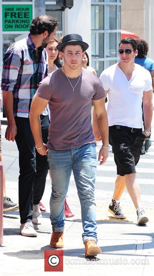 Nick and Joe Jonas spotted on Sunset Boulevard