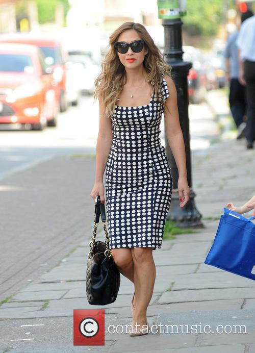 Myleene Klass out and about in Highgate
