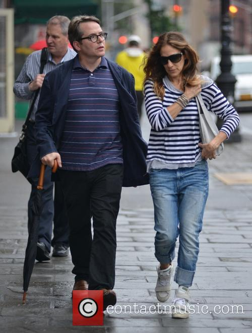 Mathew Broderick and Sarah Jessica Parker on the...
