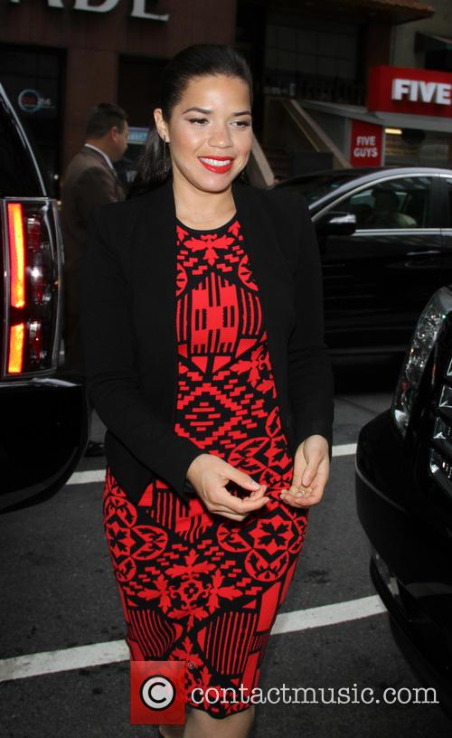 America Ferrera arrives at 'The Today Show' studios