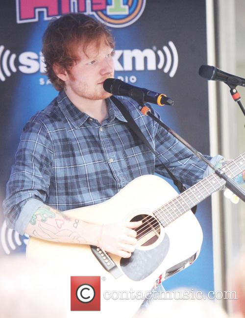 Ed Sheeran performs at the SiriusXM SideWalk Session
