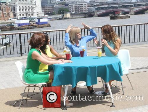 ITV's 'Loose Women' films outside at South Bank