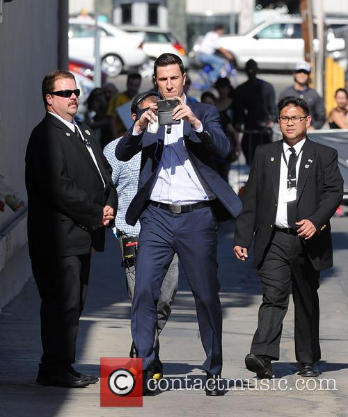 Pablo Schreiber arrives at Jimmy Kimmel