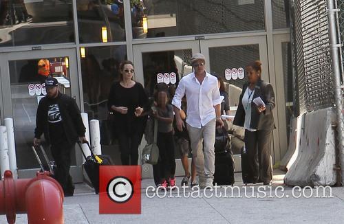 Angelina Jolie, Brad Pitt and Zahara Jolie-Pitt 2