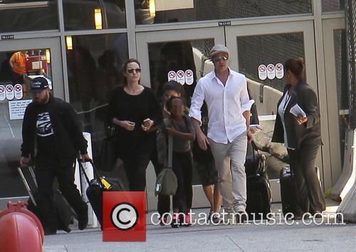 Angelina Jolie, Brad Pitt and Zahara Jolie-Pitt 4