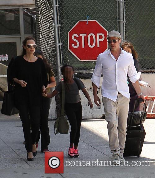 Angelina Jolie, Brad Pitt and Zahara Jolie-Pitt 12