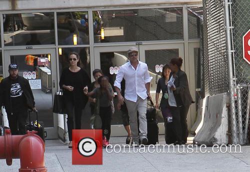 Angelina Jolie, Brad Pitt and Zahara Jolie-Pitt 13