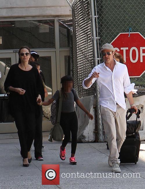 Angelina Jolie, Brad Pitt and Zahara Jolie-Pitt 15