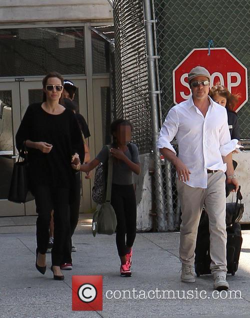 Angelina Jolie, Brad Pitt and Zahara Jolie-Pitt 16