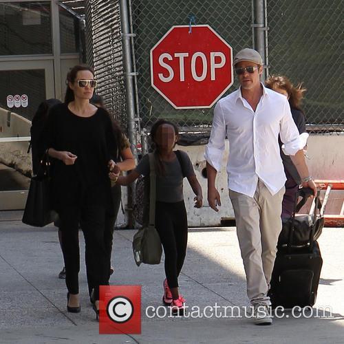 Angelina Jolie, Brad Pitt and Zahara Jolie-Pitt 17