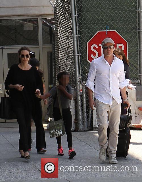 Angelina Jolie, Brad Pitt and Zahara Jolie-Pitt 19