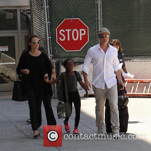 Angelina Jolie, Brad Pitt and Zahara Jolie-Pitt 20