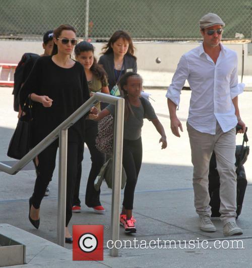 Brad Pitt, Angelina Jolie and Zahara Jolie-pitt