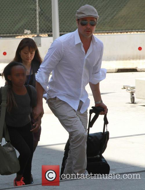Brad Pitt and Zahara Jolie-pitt 4