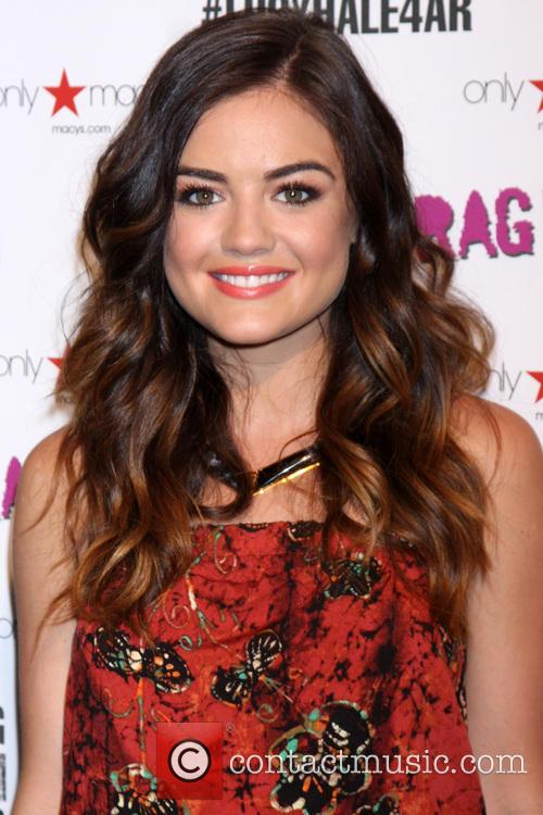 Lucy Hale appears at Macy's to promote American...