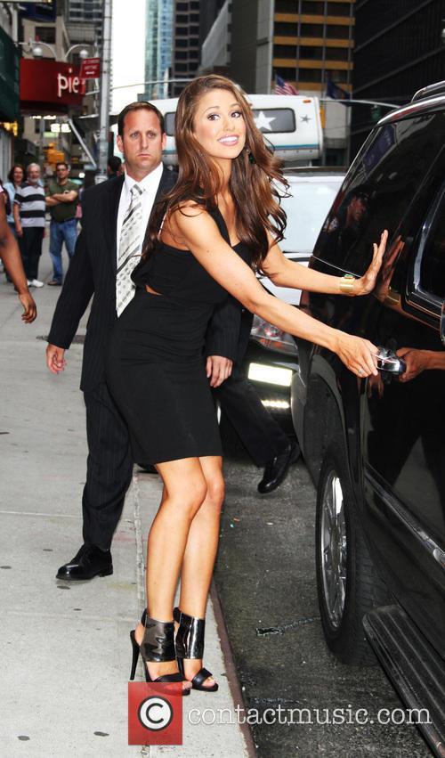 Nia Sanchez and David Letterman 4