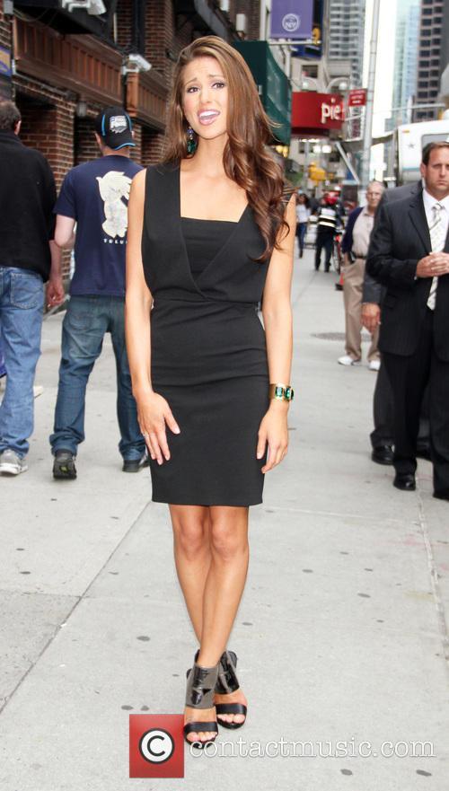 Nia Sanchez and David Letterman 5