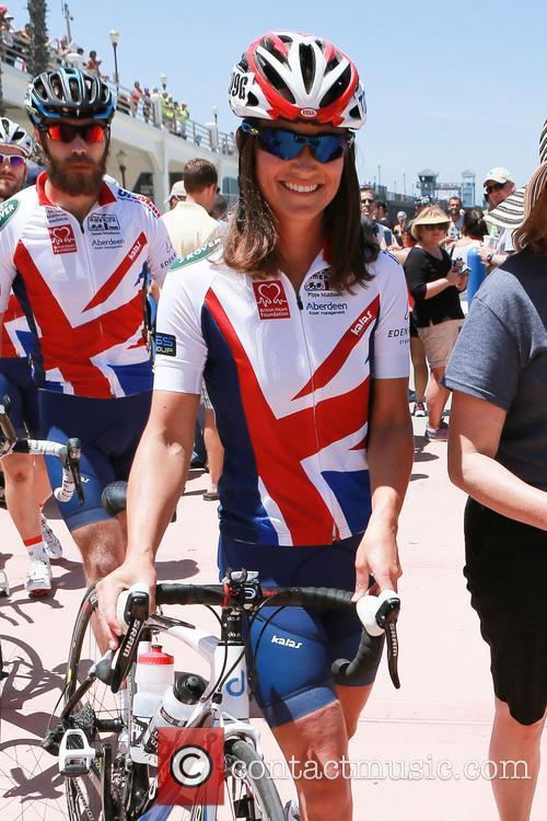 Pippa James Middleton Cycling
