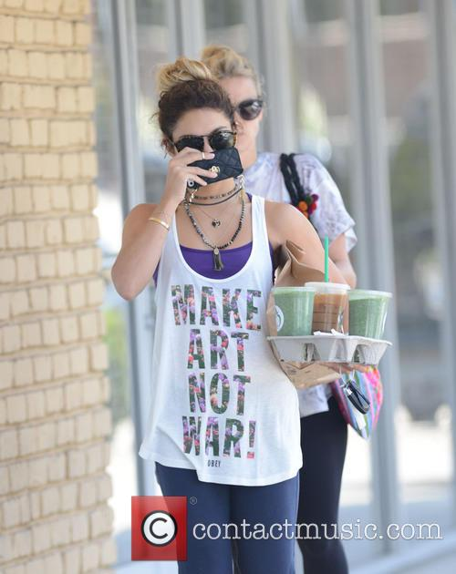Vanessa Hudgens spotted out stocking up on drinks