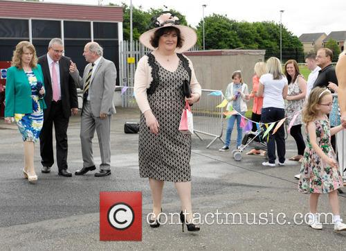 Susan Boyle attends her local Children's Gala Day...