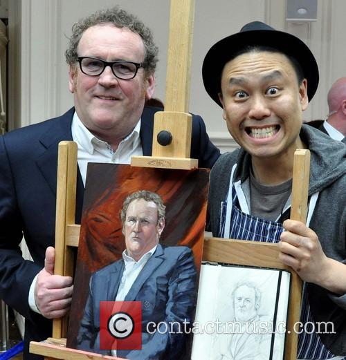 Colm Meaney and Artist Mark Heng 9