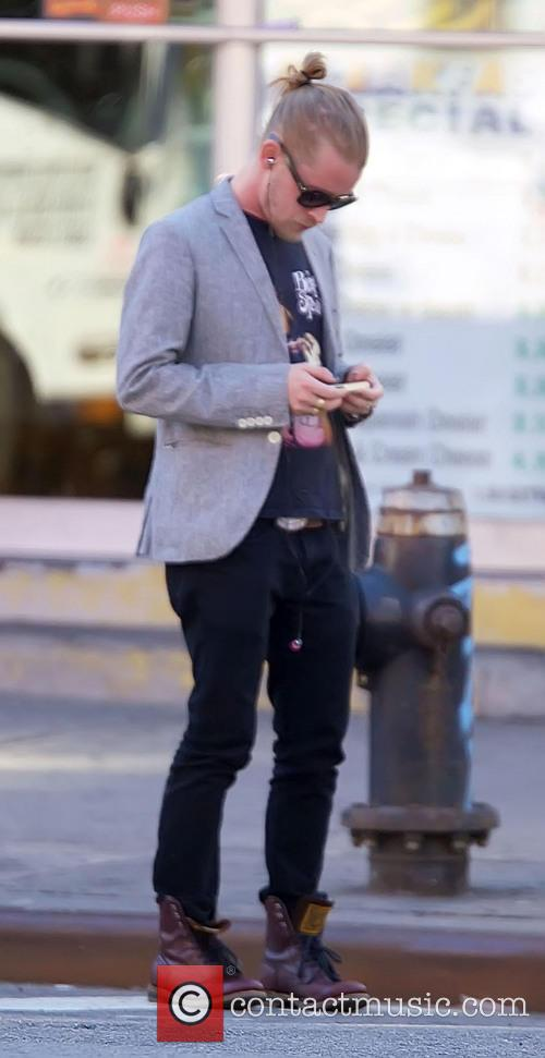 Macaulay Culkin pictured in New York City