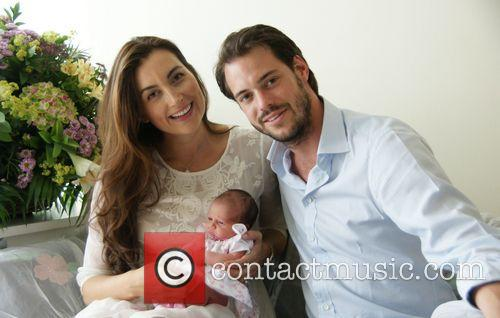 Prince Felix and Princess Claire of Luxembourg pose...