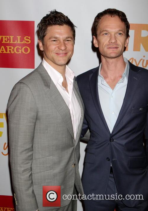 Neil Patrick Harris, David Burtka, Marriot Marquis at Times Square