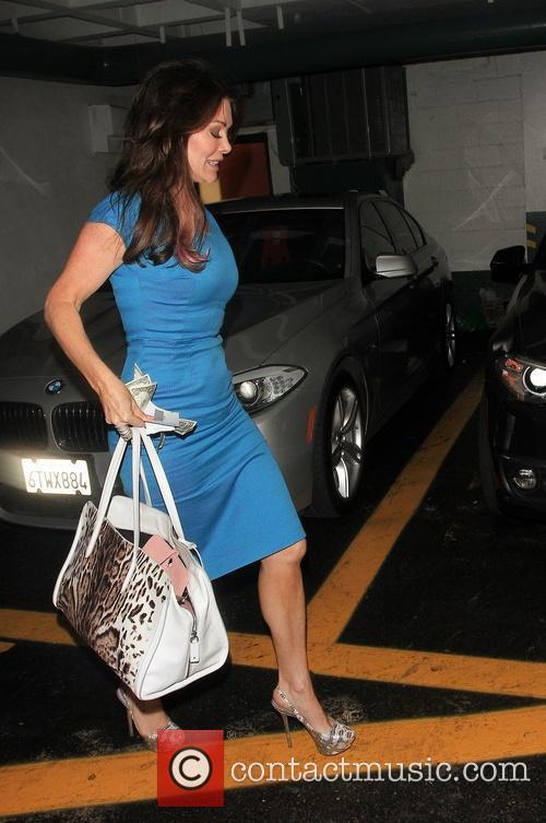 Lisa Vanderpump Leaving Beverly Hills Nail and Spa