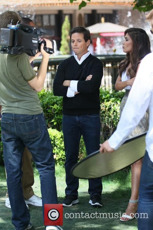 Scott Wolf gets interviewed at The Grove