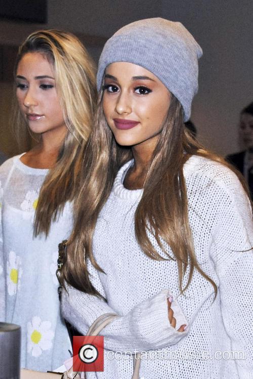 Ariana Grande arrives at Narita International Airport in...