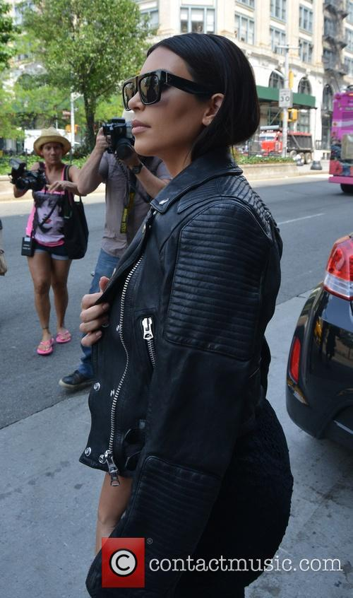 Newlywed Kim Kardashian spotted in Soho dressed in black from head-to-toe