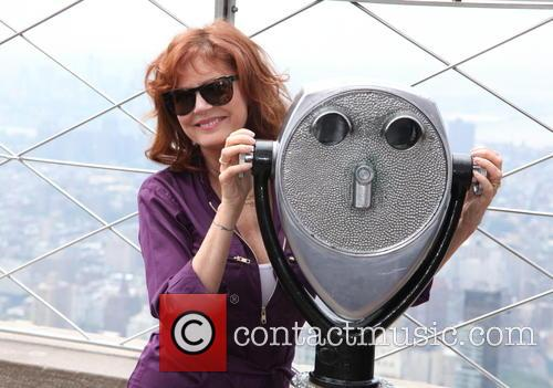 Susan Sarandon lights the Empire State Building