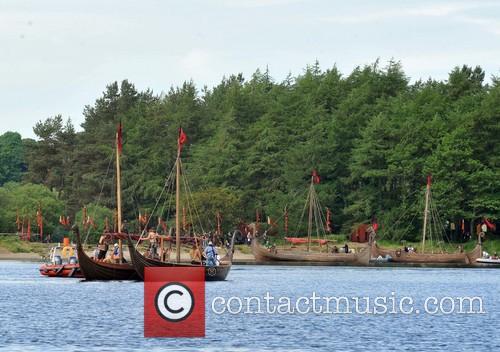 Filming takes place on Season 3 of 'Vikings'