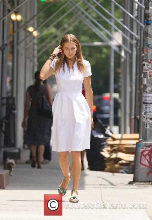 Jessica Hart seen in  the East Village