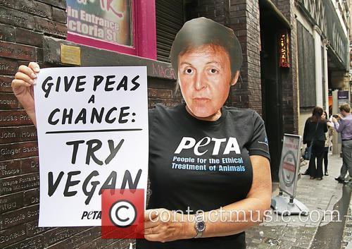 Paul McCartney and PETA Supporters 12