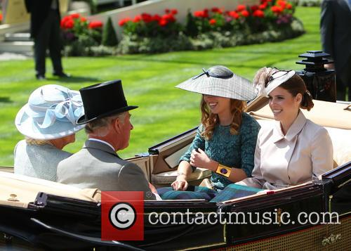 Princess Beatrice, Princess Eugenie, Prince Charles and Camilla Duchess Of Cornwall 4