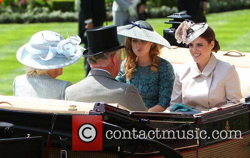 Princess Beatrice, Princess Eugenie, Prince Charles and Camilla Duchess Of Cornwall 1