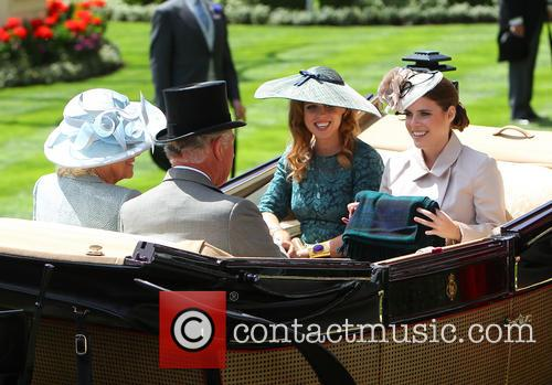 Princess Eugenie, Princess Beatrice, Prince Charles and Camilla Duchess Of Cornwall 5