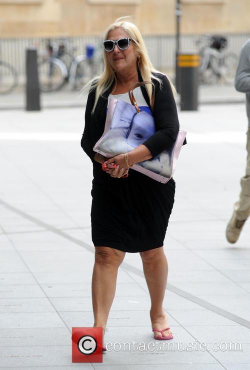 Vanessa Feltz arriving at the BBC