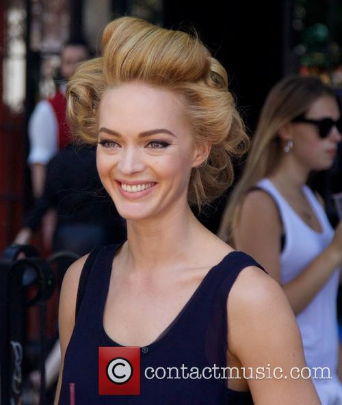 Jaime King sporting a different hairstyle as she...