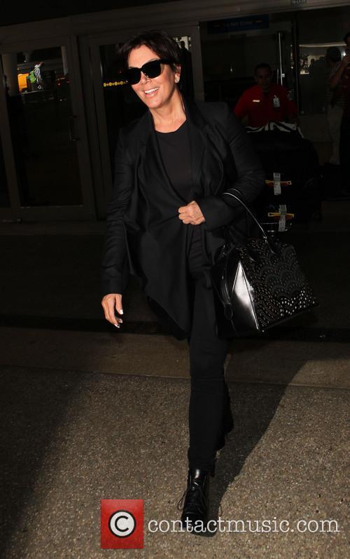 Kris Jenner arriving at LAX