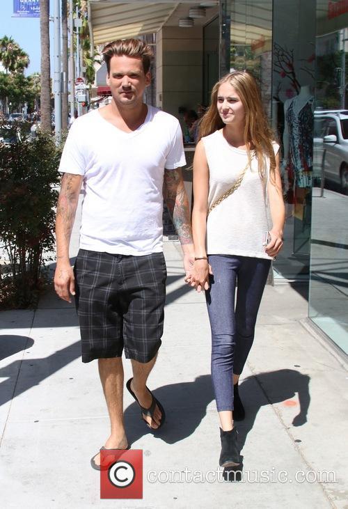 Sean Stewart and Sophia Mondi walking in Beverly...