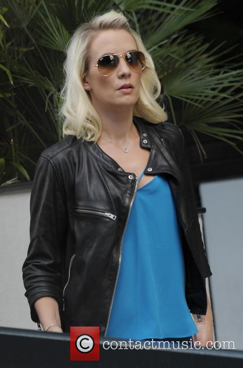Claire Richards leaving the ITV studios