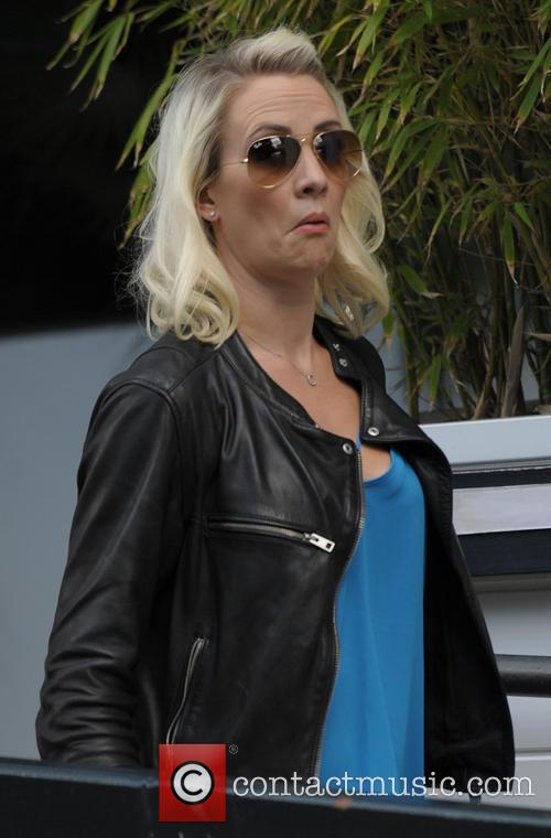 Claire Richards leaving the ITV studios