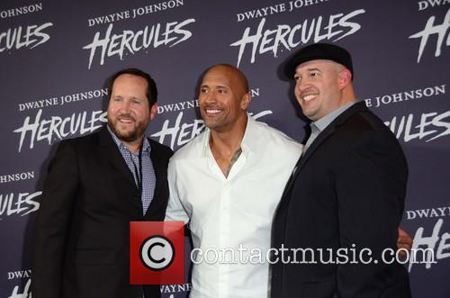 Dwayne Johnson, Guest and Beau Flynn 3