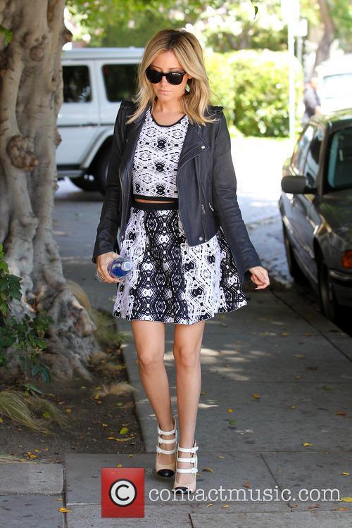 Ashley Tisdale In Summer Tribal Patterned Dress
